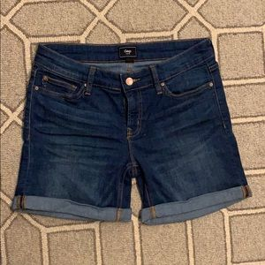 Gap Real Straight Dark Denim Short